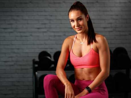 Kayla Itsines, the Adelaide based Instagram-famous fitness trainer.