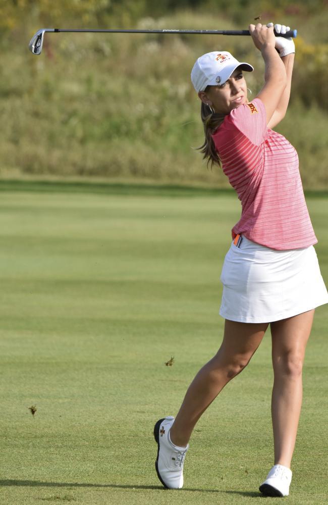 Celia Barquin Arozamena played for Iowa State University. Picture: AP