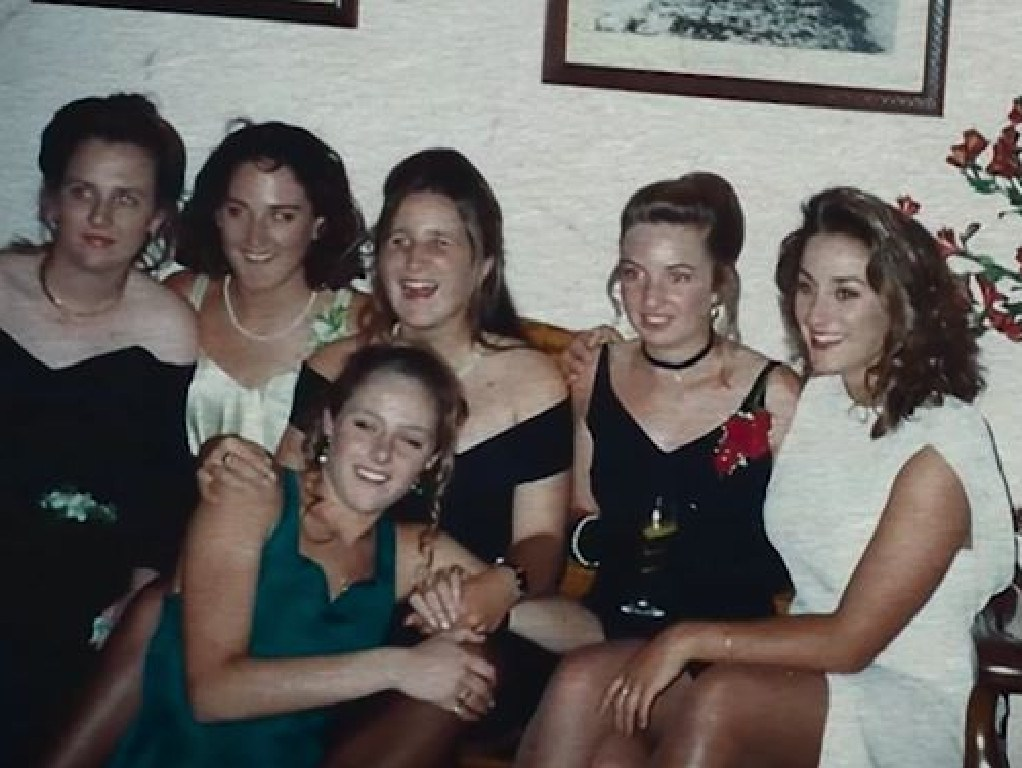 Keli Lane (far right in white) had an endless supply of friends but nobody to confide in. Picture: ABC