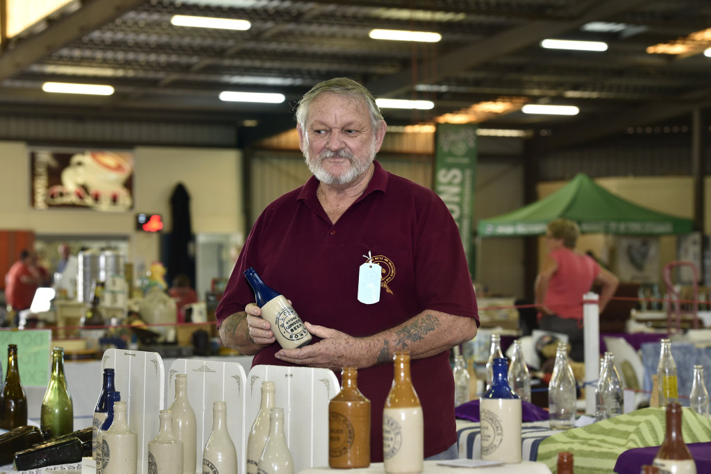 Daryl Jenkin at the Carnival Collectables Fair in Toowoomba.