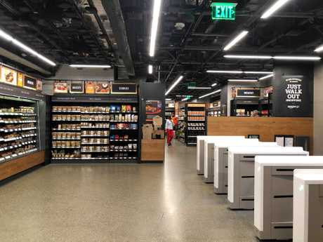 Inside Seattle's Amazon Go store.