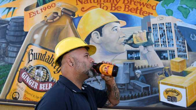 Man in the ginger beer mural revealed