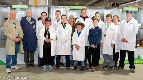 EXCITING TRIP: Abby Buhlmann with the other scholarship recipients at the Brisbane Ekka.