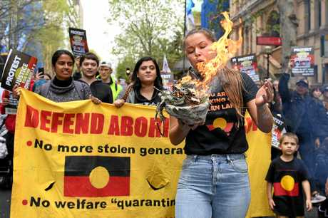 A protest on behalf of the families of the Bowraville murder victims in Sydney.