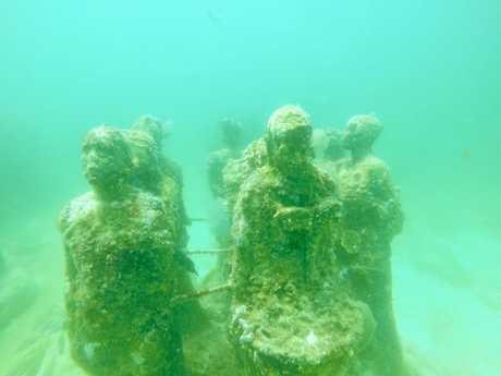 Diving the Underwater Museum of Art (MUSA) and other reefs off Isla Mujeres in Mexico.