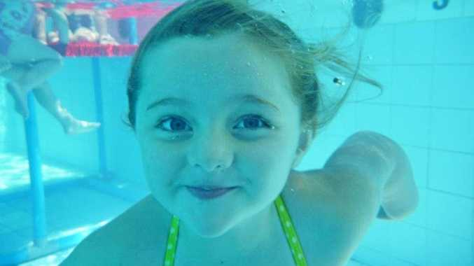 STILL LEARNING: Alpha's Tahlia McGrath loves her swimming lessons.