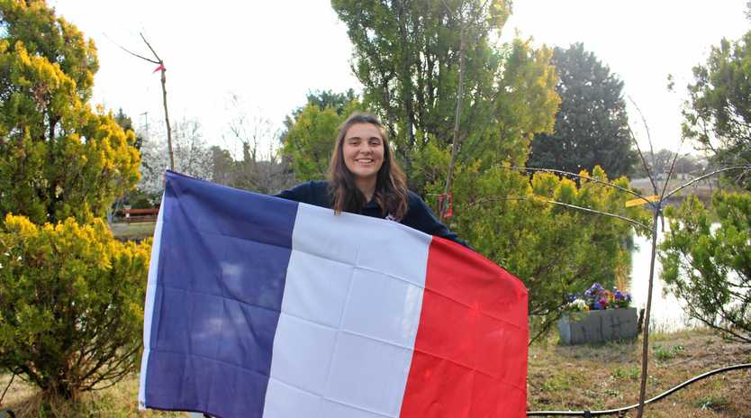 Rotary French Exchange student Marie Corna has arrived at Stanthorpe.