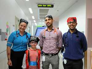 All hands on deck for Talk Like A Pirate Day at hospital
