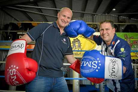 Member for Gladstone Glenn Butcher and Gladstone Region Mayor Matt Burnett will face off in a charity boxing match.