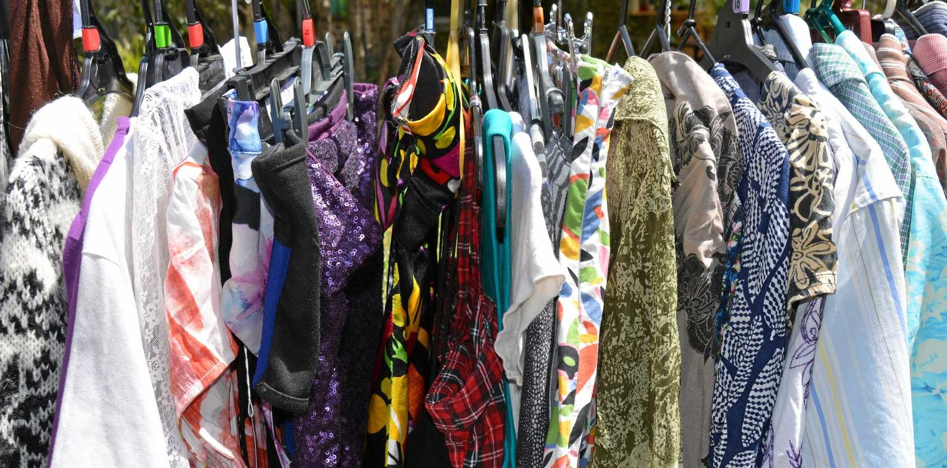 Second hand and new clothes will be for sale at the Mackay Clothes Box market.