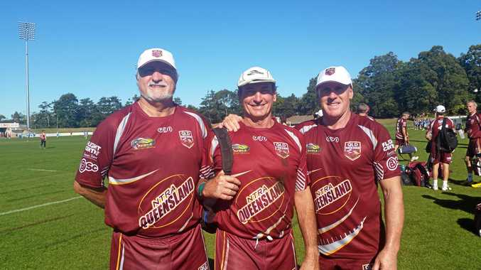Ballina touch players Tony Cicchinelli, Tony Webb and Graham Lees, who have represented Queensland and have now been selected for an Australian veterans team.