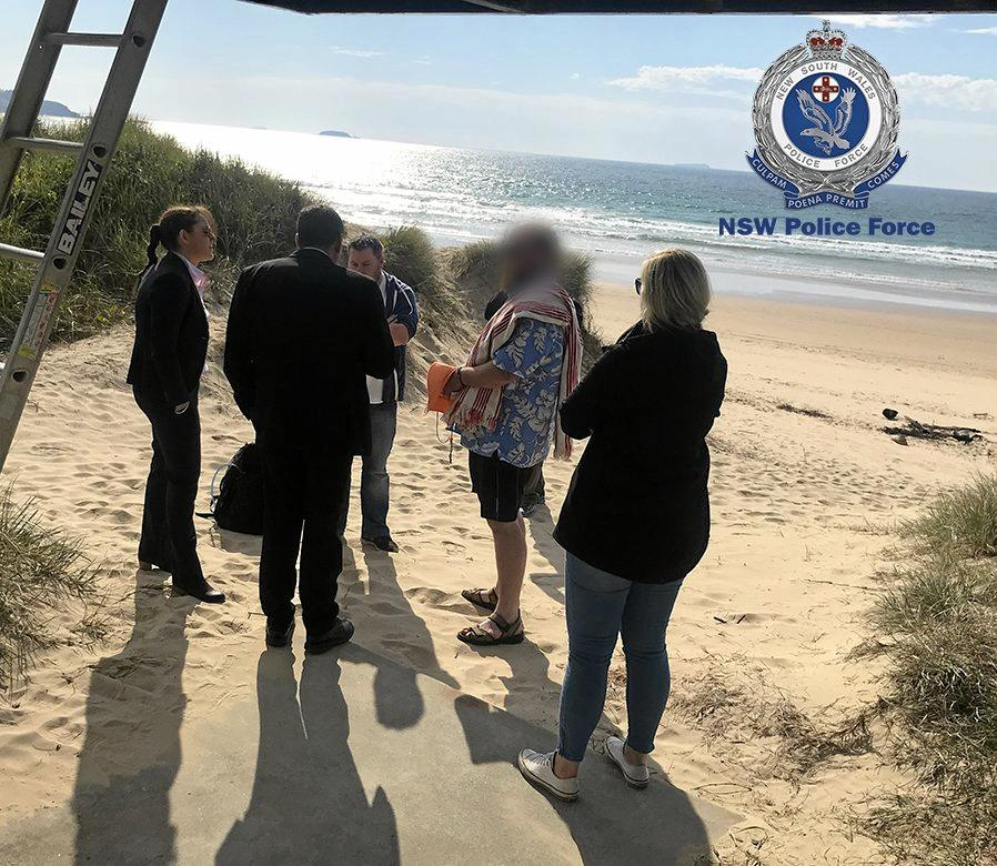 The man was arrested at a Coffs Harbour beach on July 20.