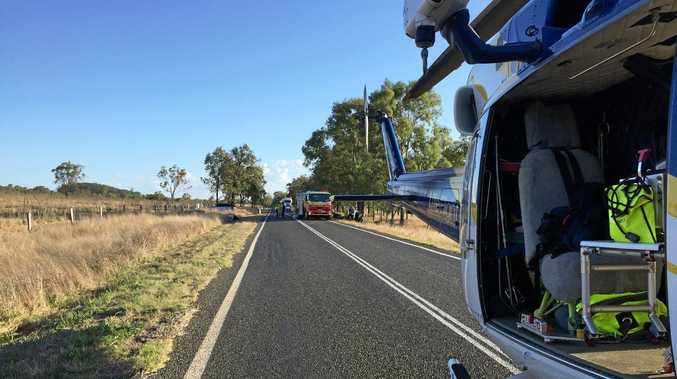 Burnett man airlifted after serious crash