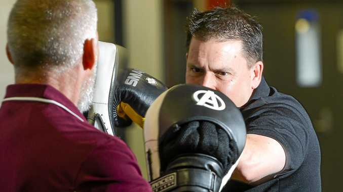 POLLIE PUNCH: Gladstone Mayor Matt Burnett is training hard in the lead up to his bout against Member for Gladstone Glenn Butcher.