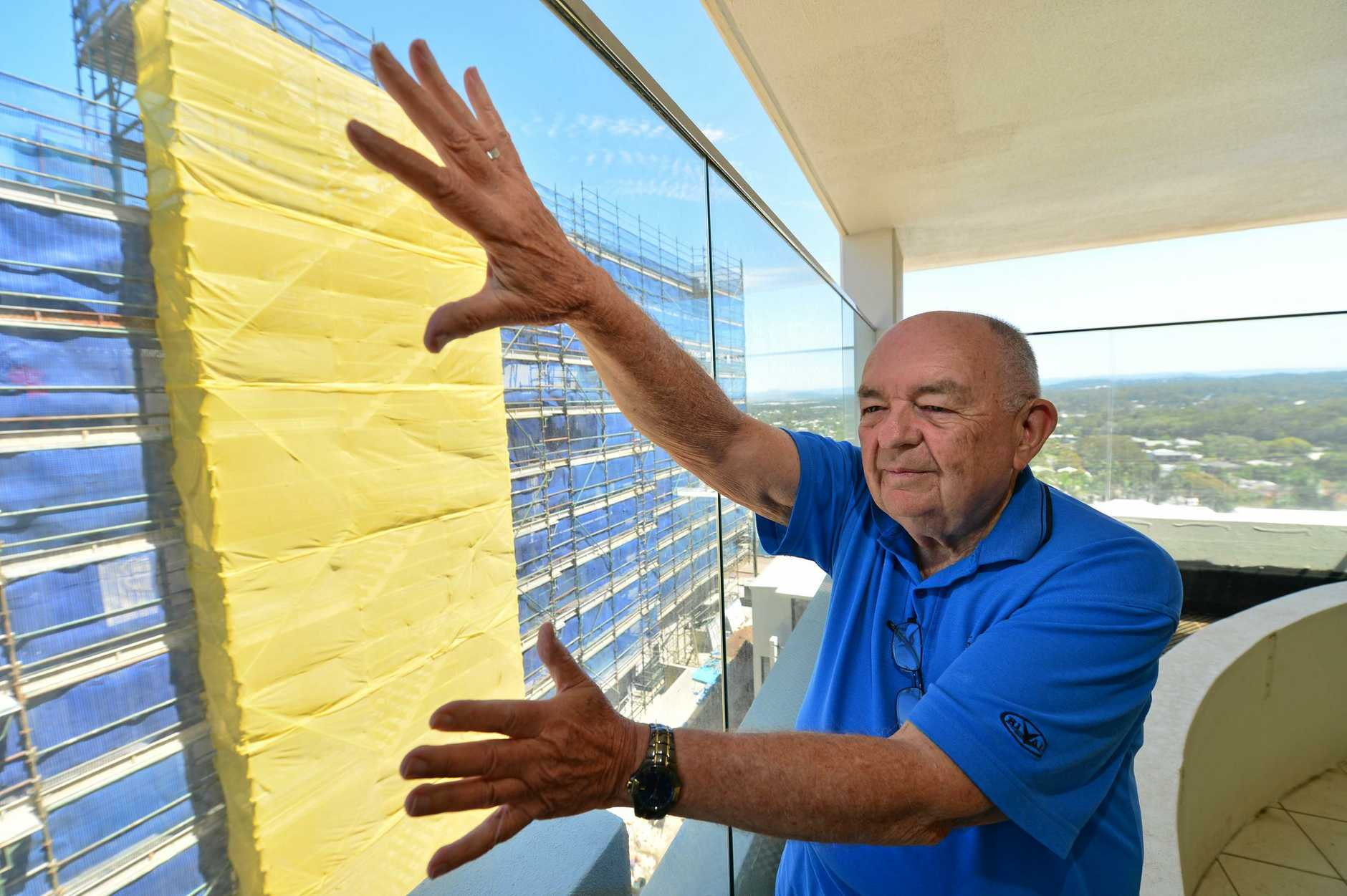 A glaziers poor workmanship on a Kings Beach balustrade costs  unit owner Ian Millard thousands, and left them at risk for almost nine months of their glass giving way on them.