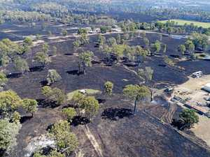 Aerial footage of Woolooga fire