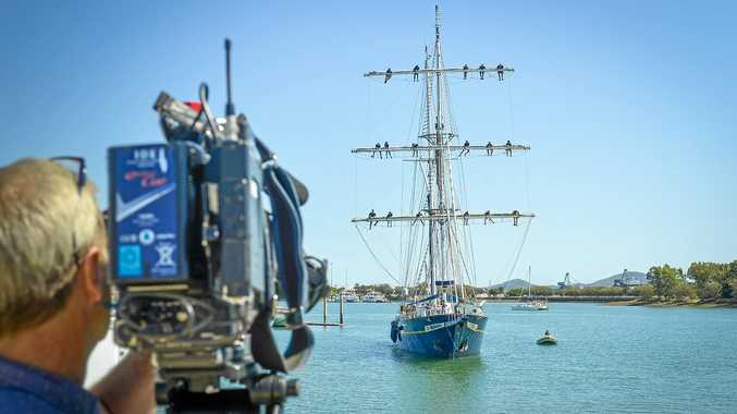 The STS Young Endeavour sailed into Gladstone Marina this week.