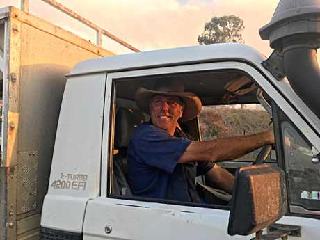 Mark Hickmott helped save two houses from destruction at Pike Rd, Woolooga on Wednesday.