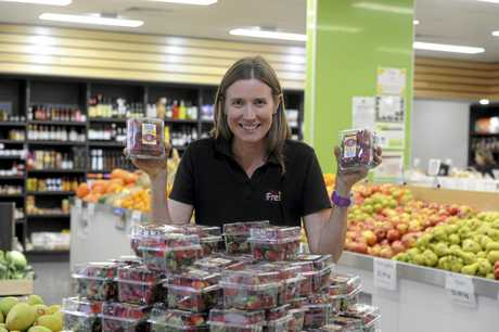 BOUNCE BACK: After an initial hit in sales, strawberries have been flying off the shelf, according to Causley Fresh owner Jess Causley.
