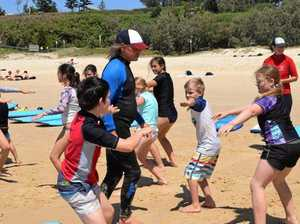 Rainbow Beach joy for drought-hit kids