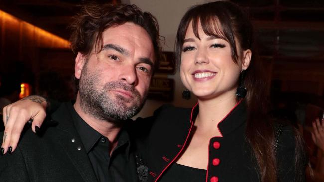 Johnny Galecki and Alaina Meyer are officially an item. Picture: Eric Charbonneau/REX/Shutterstock