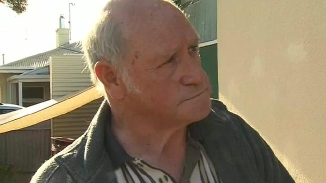 Geoffrey Adams was charged with the murder of his wife. Picture: Nine News