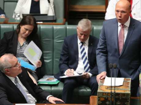Home Affairs Minister Peter Dutton will face a no-confidence motion. Picture: Kym Smith