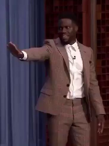 """My ass is sweating"": Kevin Hart could not be convinced to go near Robert Irwin's tarantula on The Tonight Show with Jimmy Fallon."