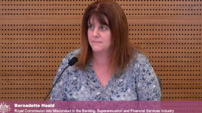 Bernadette Heald broke down at the banking royal commission.