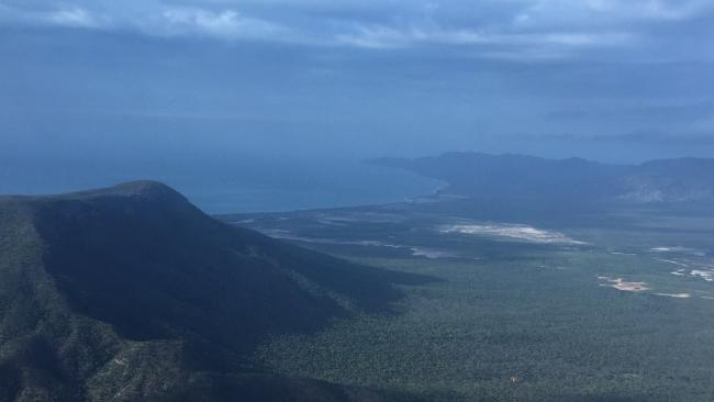 The mountain range at Lockhart River. Picture: Rescue 510