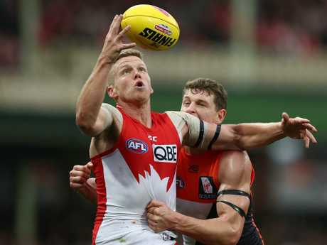 Dan Hannebery. (Photo by Mark Metcalfe/AFL Media/Getty Images)
