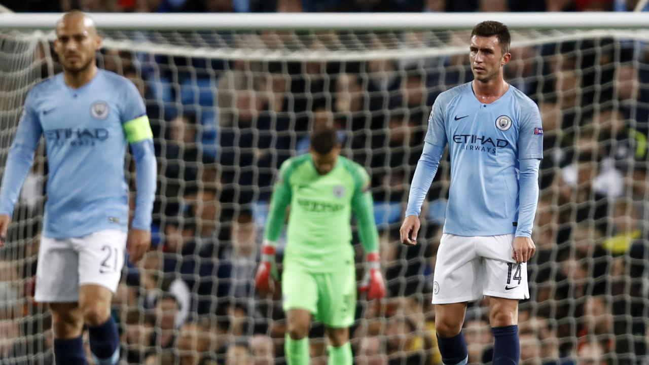 Manchester xcity just didn't fire a shot against Lyon. Picture: Getty.