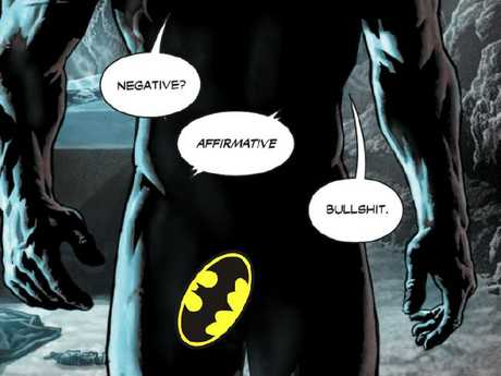 Batman's penis is revealed in new comic. Picture: DC Comics