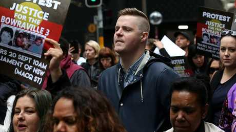 Comedian Tom Ballard joined the protest last week. Picture: AAP Image/Danny Casey