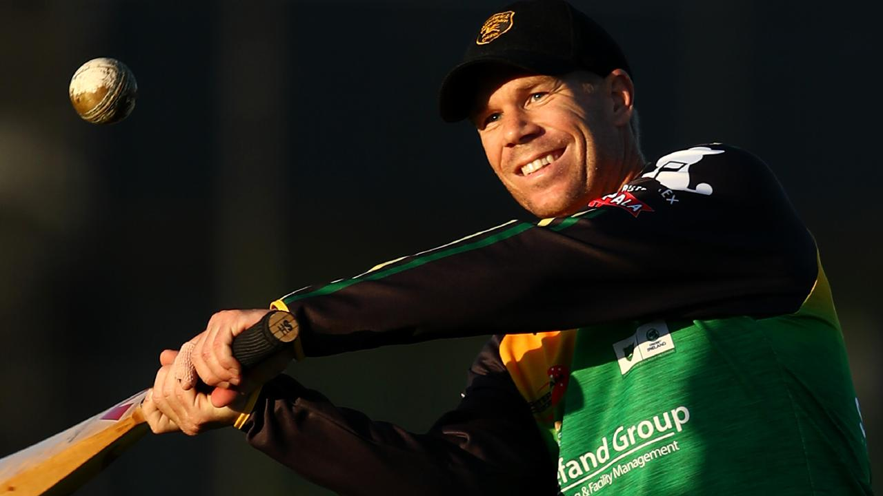 Banned Test vice-captain David Warner at Randwick-Petersham training on Thursday. Picture: Getty Images
