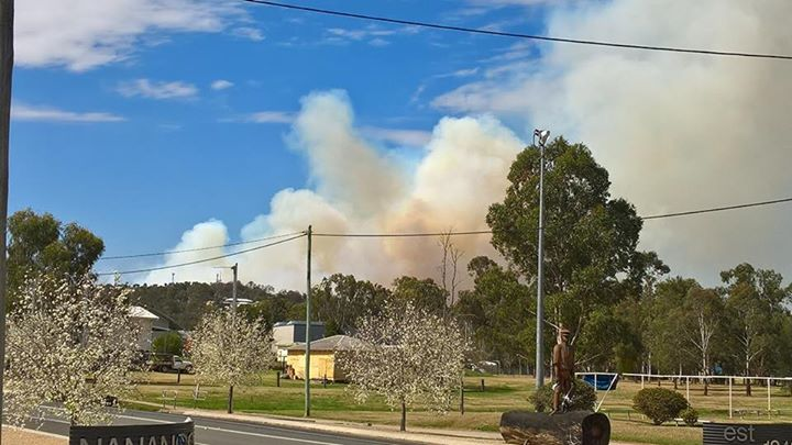 Vickie Sullivan sent in this photo of the fire near Nanango.