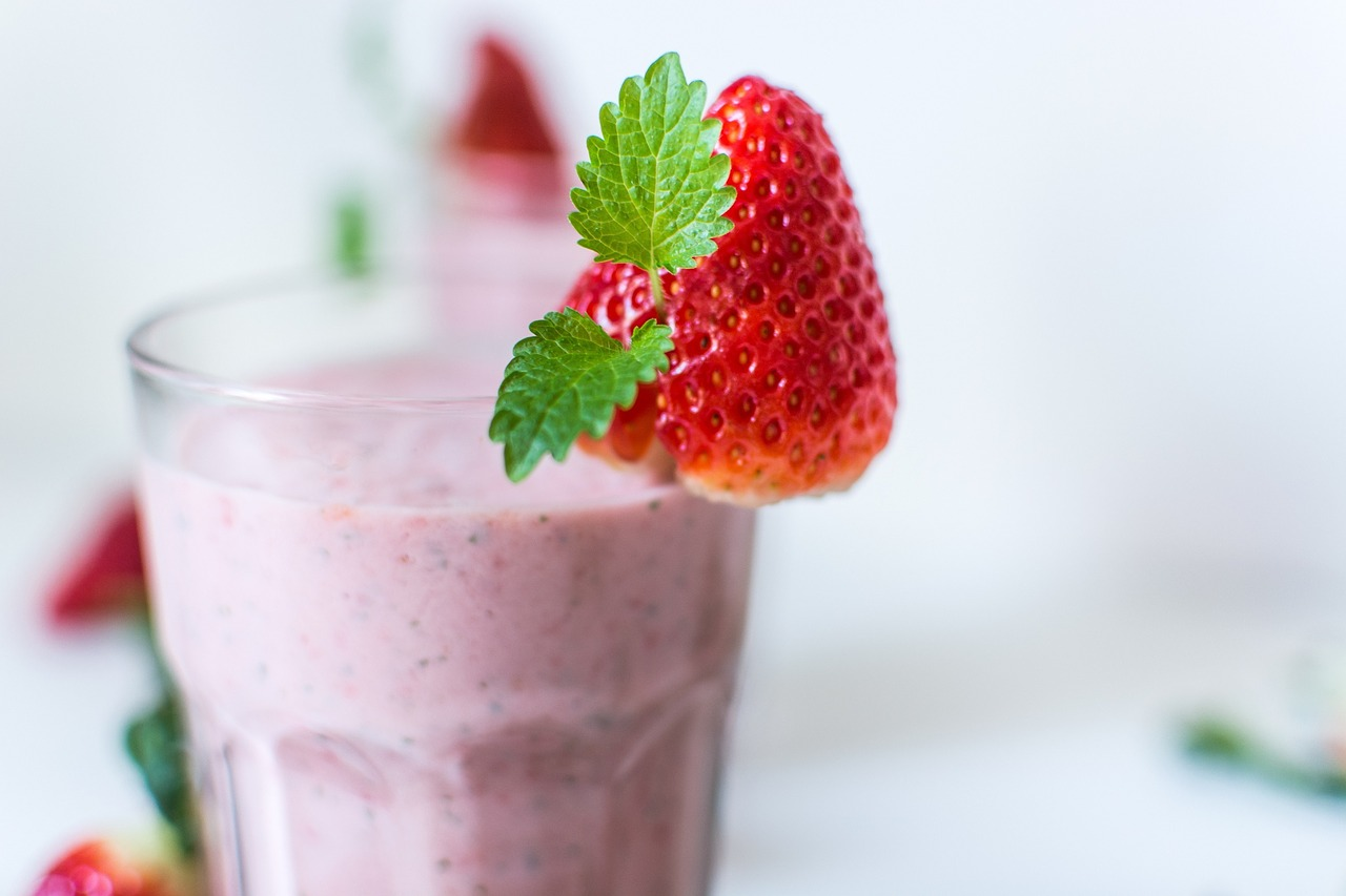 Strawberry and banana smoothies