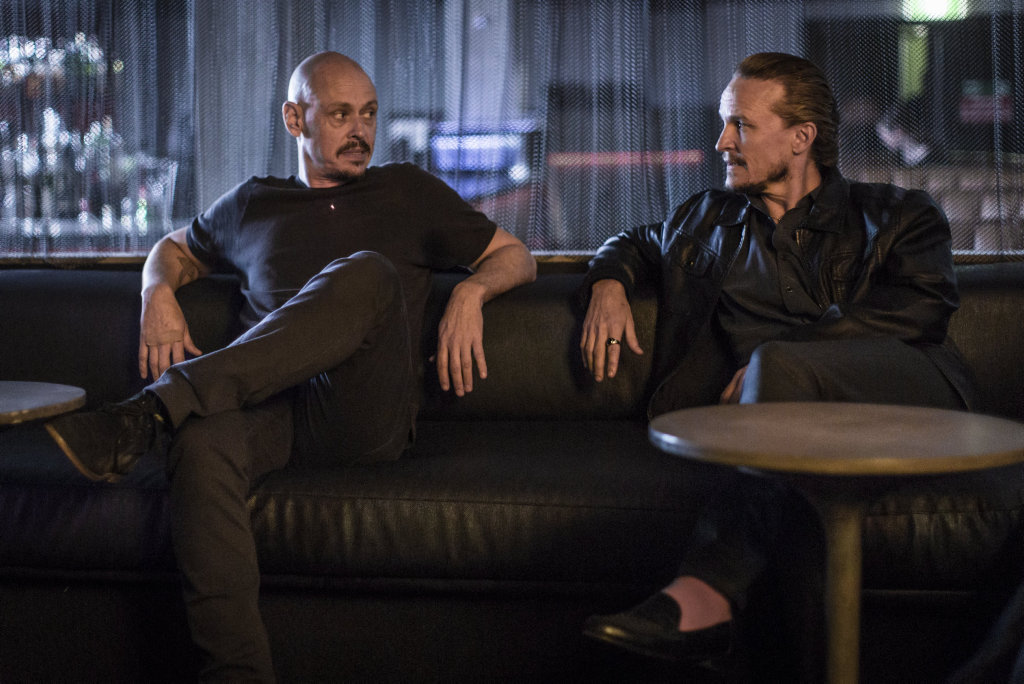 Scott Ryan and Damon Herriman in a scene from Mr Inbetween.