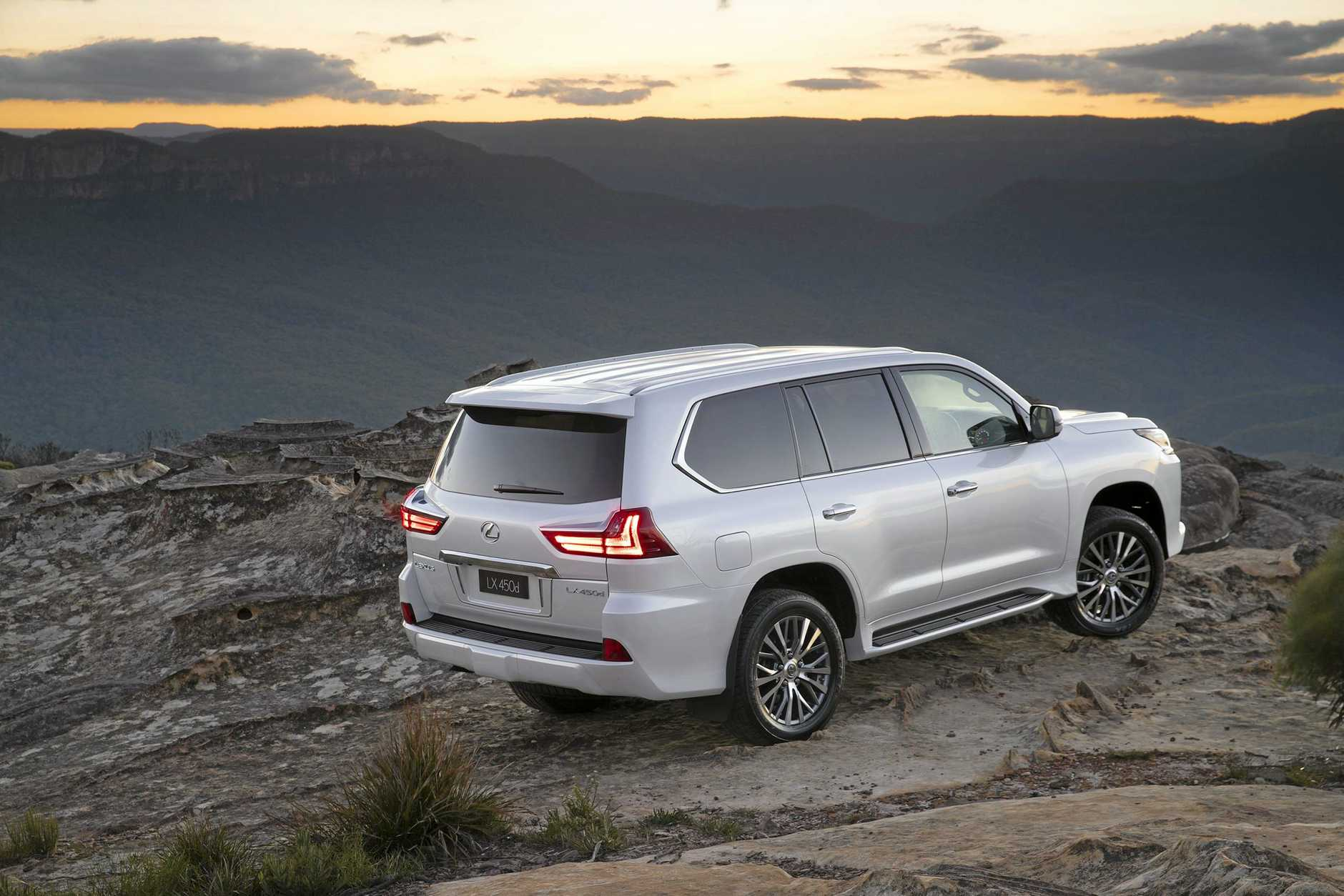 The hulking Lexus LX is now available with turbo-diesel power.
