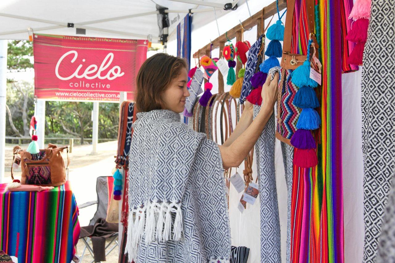 The Cielo Collective market stall.