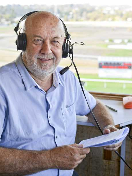 Paul Dolan at his final Ipswich Turf Club meeting as a race caller.
