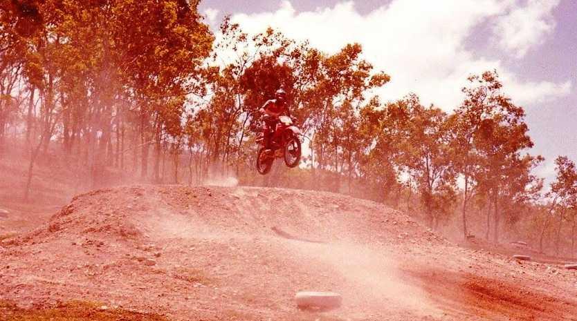 Glossop Park 1985, David Jones on bike.