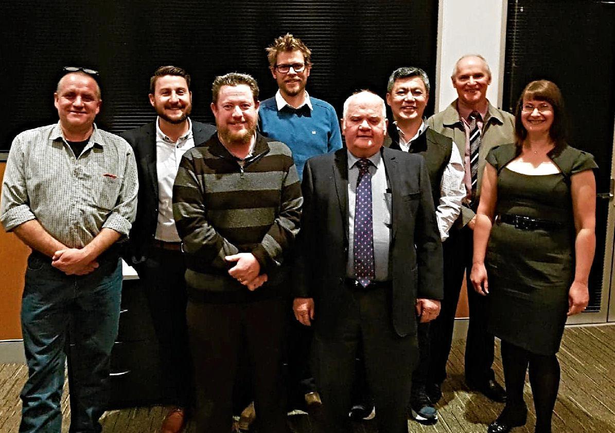 NEW LINEUP: New Granite Belt and Stanthorpe Chamber of Commerce board with Graham Parker, Josh Cavallaro, Nathan Colyer, Tim Carnell, president Bill James, Danny Tjan, Scott Bradburn and Amanda Harrold.