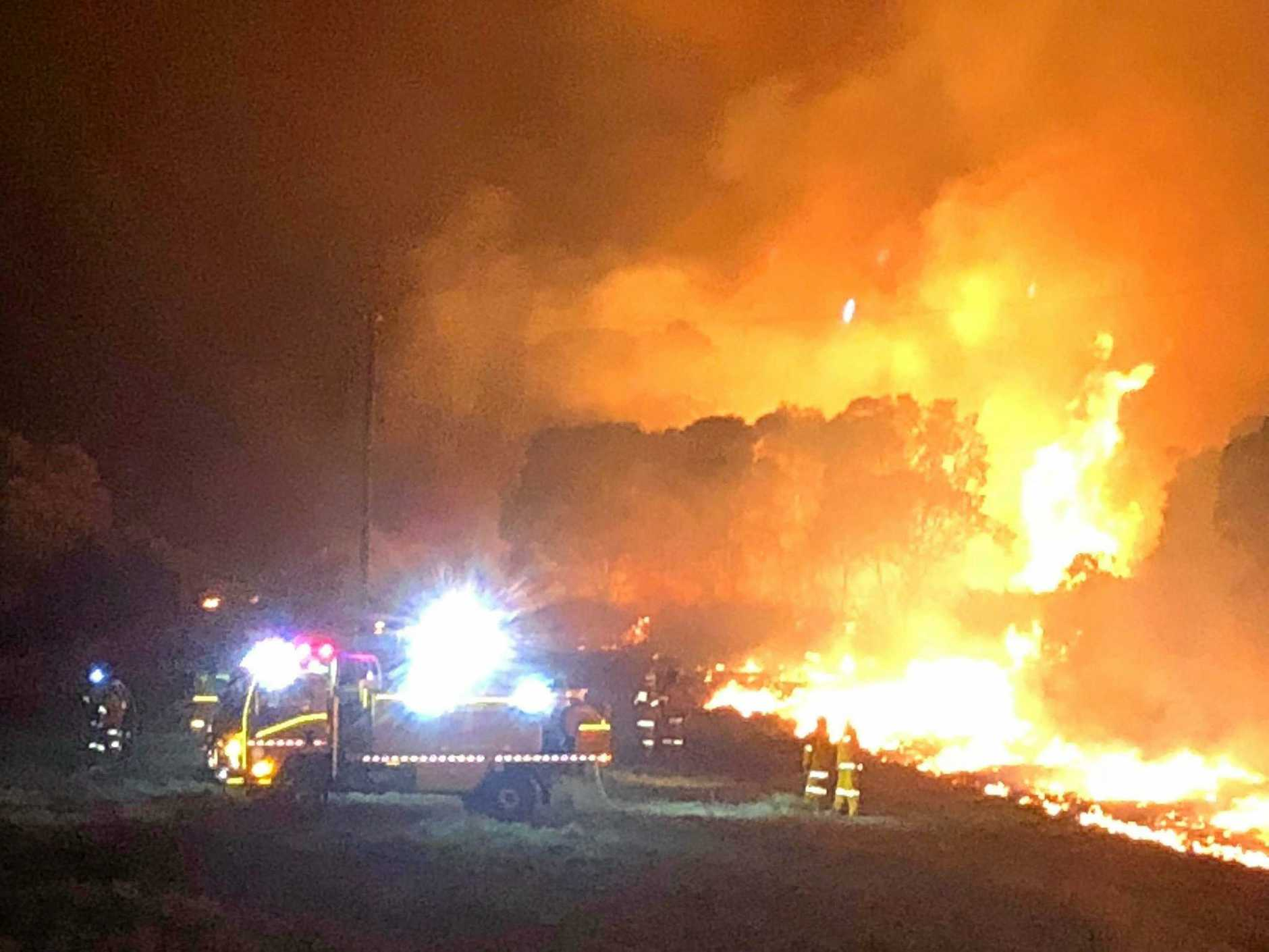 BUSHFIRE: QFES Crews are currently monitoring the fire burning within the vicinity of Booie Rd and Pates Rd in Booie, which broke out on Thursday September 21.