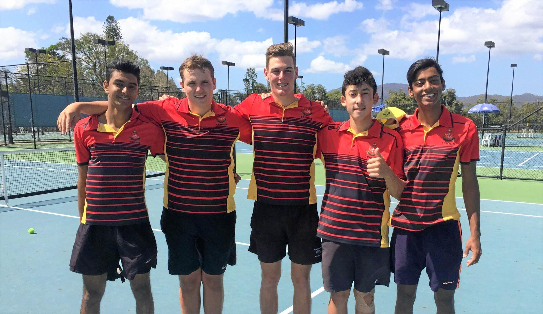 THUMBS UP: Abhinav Singh, Cooper Wright, Ben Funch, Kaz Killoran and Faizan Hussain were named Country Champions of the year.