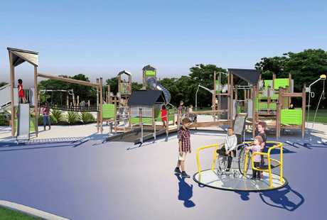 NEW PLAYGROUND: Impressions of planned playground upgrade.