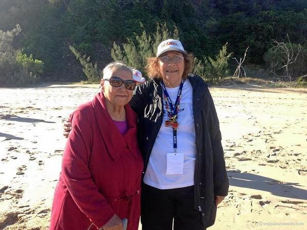 WOPPABURRA ELDERS: Auntie Glenice and Auntie Bess on Kanomie. Taken in 2017.