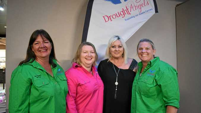DROUGHT ANGELS: Jenny Gailey, Tash Johnston, Yvette Chapman and Carissa Liddle at their 2019 calendar launch on September 20 .