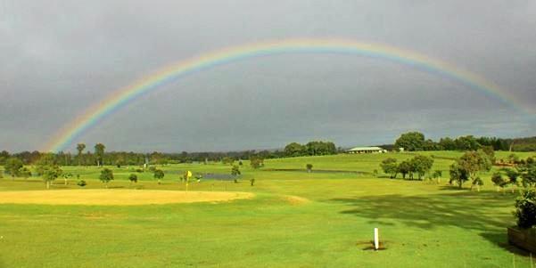 IDYLLIC: A rainbow over the Lawrence Golf Club.
