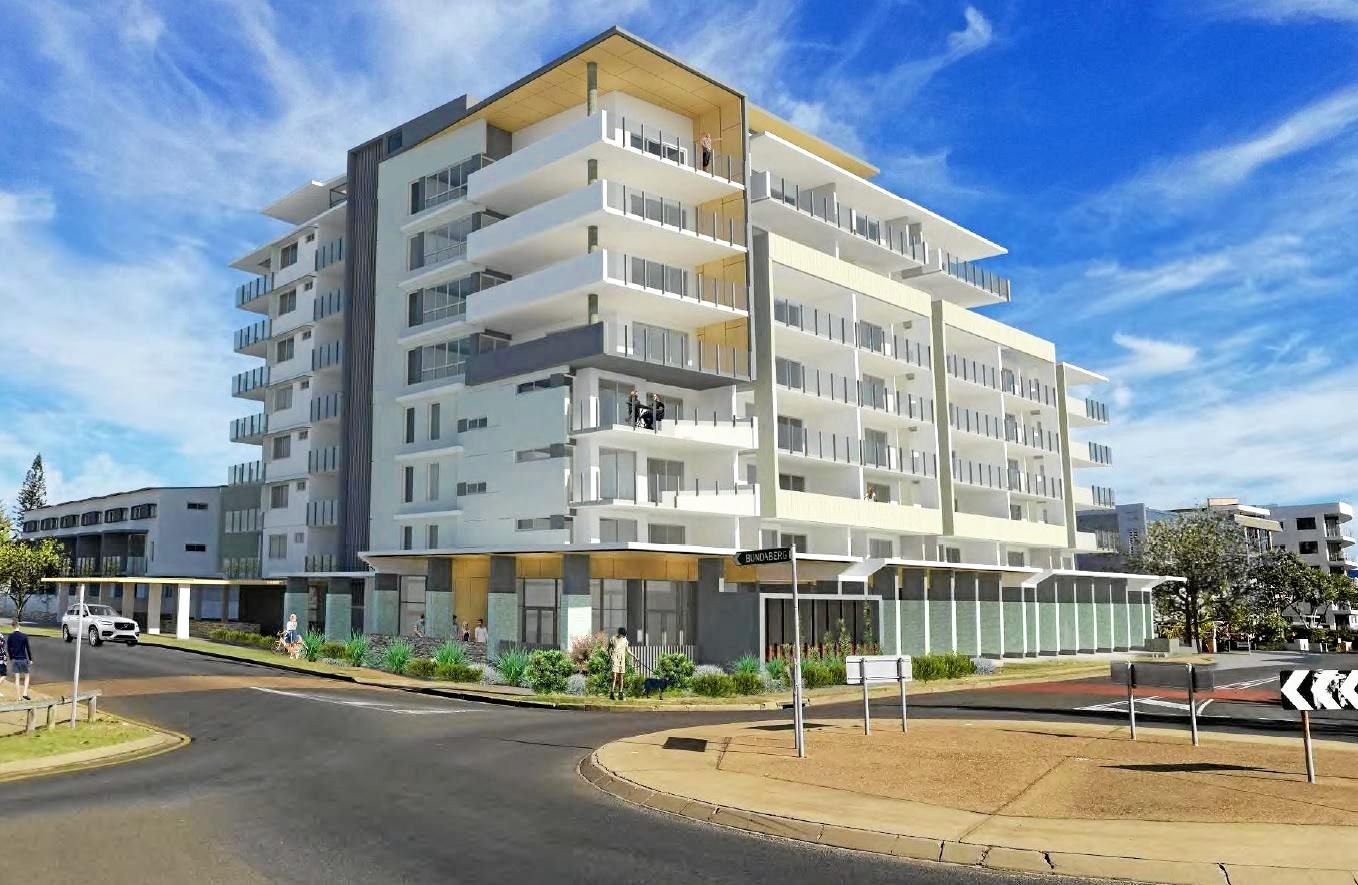 BARGARA JEWEL: An artist impression of the proposed nine-storey high-rise on the Bargara Esplanade.